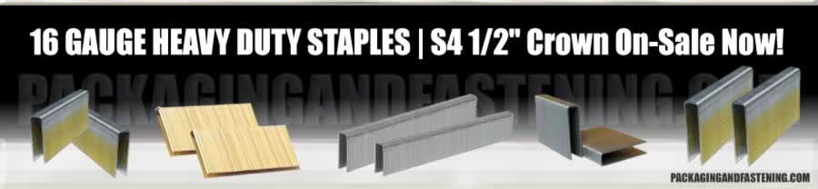 16 GA 1/2 IN Med Crown GS-Series Paslode Type Staples
