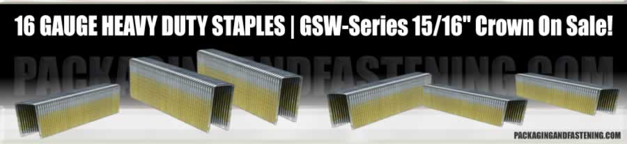 16 GA 1 IN Wide Paslode GSW-Series Staples