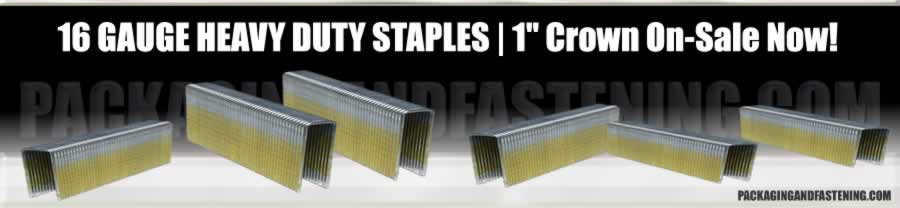 16 GA 1 IN Wide Crown Bostitch Series Staples