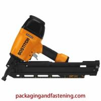 33 Degree Paper Tape Collated Pneumatic Stick Nailer. Two nailers in one: includes two quick change nosepieces to convert tool to either framing or metal connector applications. Includes factory installed sequential trigger and exclusive Smart Trigger Pat