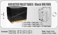 51 IN x 49 IN x 73 IN 2 Mil Black UVI-UVA Pallet Bag | packagingandfastening.com